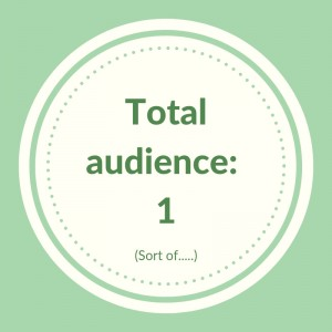 A circle with the words total audience one (sort of)