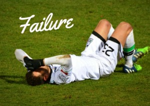 Footballer in despair over failure