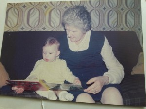 Sarah and Gran reading a book