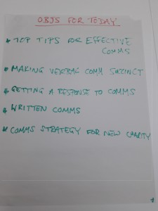 Objectives from the training course