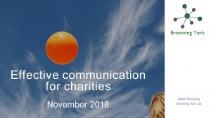 Effective communication for charities