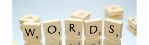 Scrabble tiles spelling words