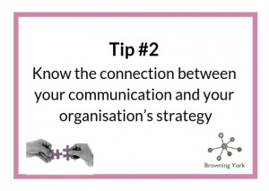 Sign showing Tip #2 Know the connection