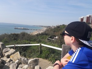 Photo of my daughter looking out to sea from the cliff