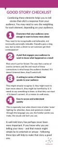 An infographic of good story tips - full text follows after the image